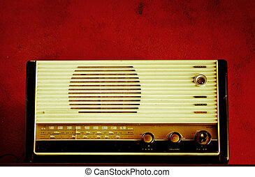 radio - with red background