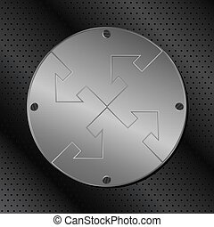 Metal Circle with Arrows
