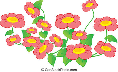 Illustration of beautiful red periwinkle
