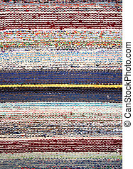 Stripped woven rag rug - Texture of classic stripped rag rug...