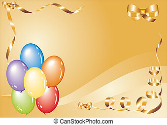 greetings card with balloons