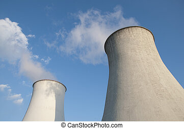 Cooling tower of power plant.