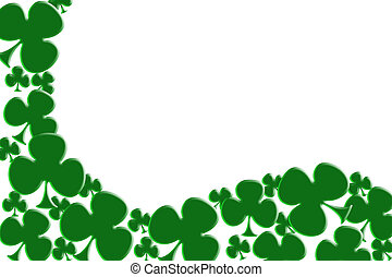 Shamrock background - Green shamrocks isolated on white for...