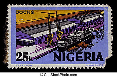 Postage stamp. - Nigeria-CIRCA 1973:A stamp printed in...