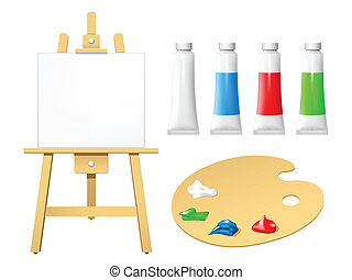 Easel with blank board
