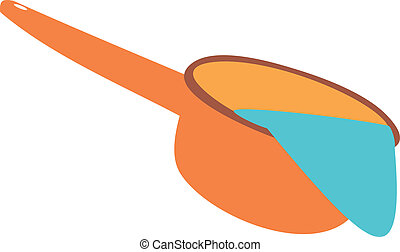 Ladle with water. Cleanliness and hygiene