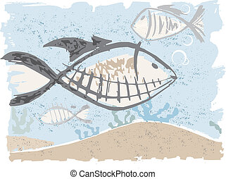 fishes under the see made by simple traces