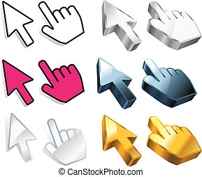 Cursors -  Set of cursors with variations