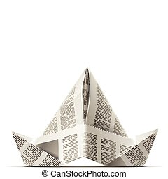 paper cap as origami handicraft vector illustration isolated...