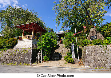 Achi village in Nagano, Japan - Chogakuji Temple in Achi...