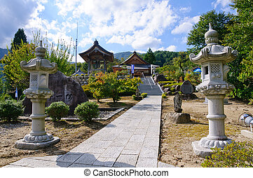 Achi village in Nagano, Japan - Shinano Hiei Konponchudo in...