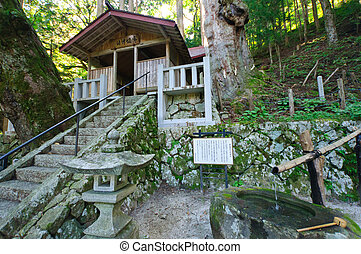 Achi village in Nagano, Japan - Misaka Shrine in Achi...