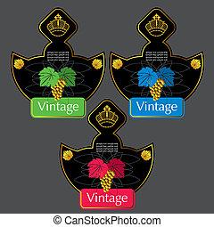Vintage Wine Labels Design Template