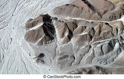 Nazca Lines - Astronaut - Aerial View of a Mountain
