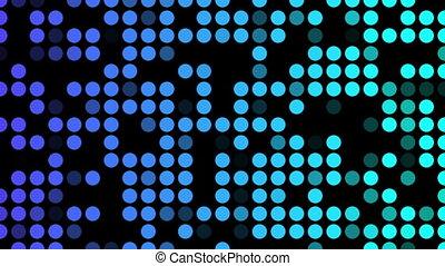 Blue shade dots