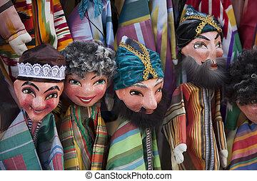 Uzbekistan, puppets in costume