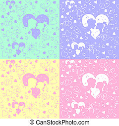 vector seamless pattern of love