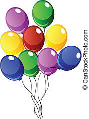 vector baloons - nice illustration of a ballons isolated on...