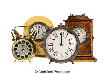 Vintage clocks at twelve - All vintage clocks at twelve...
