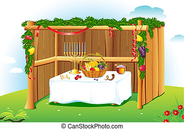 Decorated Sukkah