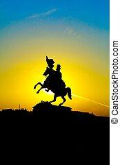 Warrior statue - Statue of Erzherzog Karl in Wien,...