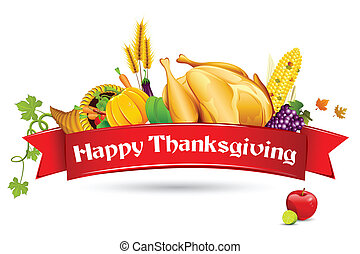 Thanksgiving Card - illustration of thanksgiving element...