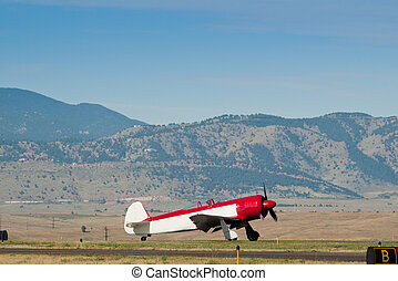 Vintage Aircraft - Vintage airplane at the Rocky Mountain...