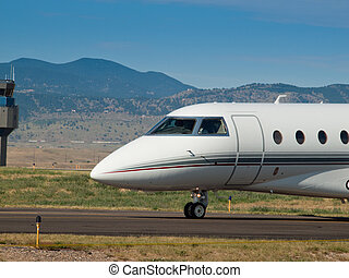 Private Jet - Private jet at the Rocky Mountain Airshow in...
