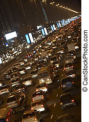 Dubai,Congestion At Night