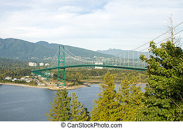 Lions Gate Bridge in Vancouver BC Canada - Lions Gate Bridge...