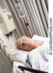 醫院, 病人, 床