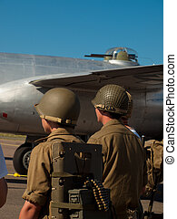 World War II Soldiers - WWII reenactors at the Rocky...