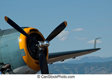 Vintage Aircraft - Airplane at the Rocky Mountain Airshow in...