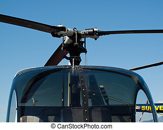 Helicopter - Two seater helicopter at the Rocky Mountain...