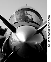 Vintage Aircraft - Fighter jet at the Rocky Mountain Airshow...