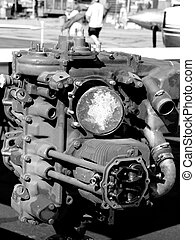 Airplane Engine - Airplane engine at the Rocky Mountain...