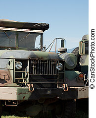 Humvee - Army camouflage Humvee at the Rocky Mountain...