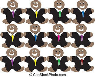 Gingerbread Business Men Pattern