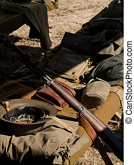 MIlitary Camp - WWII reenactment at the Rocky Mountain...
