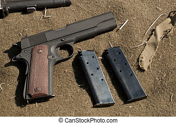 Pistol - WWII reenactment at the Rocky Mountain Airshow in...