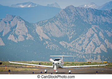 Private Airplate - Private airplane at the Rocky Mountain...