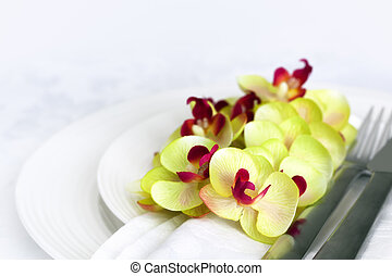 Place Setting with Orchids