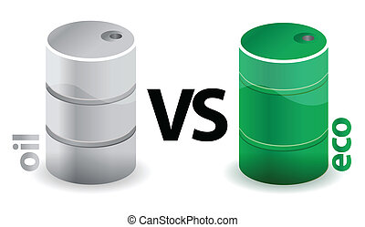 oil versus eco concept illustration