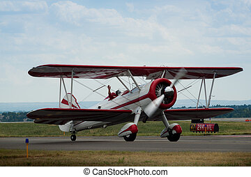 Biplane - Vintage 1942 PT-17 Stearman at the Rocky Mountain...