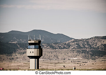 Airport Tower - Airport at the Rocky Mountain Airshow in...