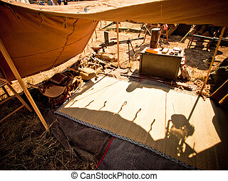 Tents - WWII reenactment at the Rocky Mountain Airshow in...