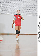 girl playing volleyball game