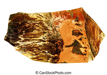 Red jasper - Mineral jasper isolated on white background.