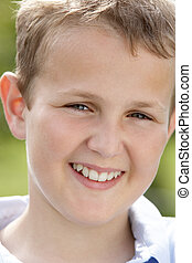 Portrait Of Pre-Teen Boy Smiling