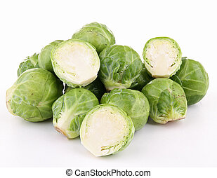isolated heap of brussels sprouts